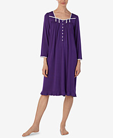 Eileen West Lace-Trim Waltz Nightgown