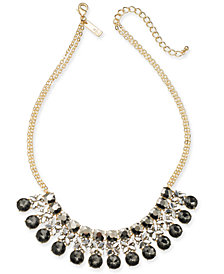 "I.N.C. Gold-Tone Crystal Statement Necklace, 18"" + 3"" extender, Created for Macy's"