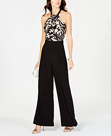 Nightway Sequined Halter Jumpsuit