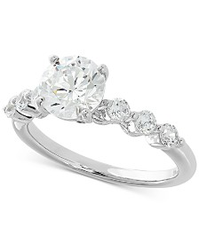 Lab Grown Diamond Engagement Ring (2 ct. t.w.) in 14k White Gold