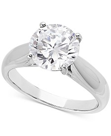 Lab Grown Diamond Solitaire Engagement Ring (3 ct. t.w.) in 14k White Gold