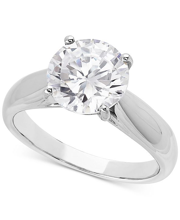 Grown With Love Lab Grown Diamond Solitaire Engagement Ring (3 ct. t.w.) in 14k White Gold