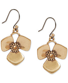 Lucky Brand Crystal Flower Drop Earrings