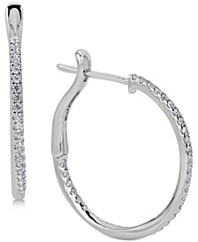 Diamond Twist In & Out Hoop Earrings (1/2 ct. t.w.) in 14k White Gold