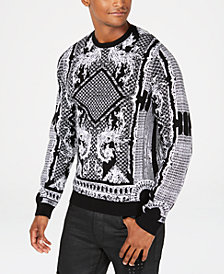 GUESS Mens Dawson Brocade Sweater