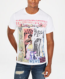 GUESS Men's Collage Logo T-Shirt