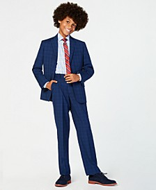 Big Boys Stretch Suit Jacket, Pants & Shirt Separates