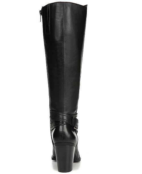 2c5c52fb9e3 Naturalizer Kelsey Wide Calf Riding Boots   Reviews - Boots - Shoes ...