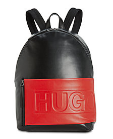 Hugo Boss Men's Hero Colorblocked Leather Backpack