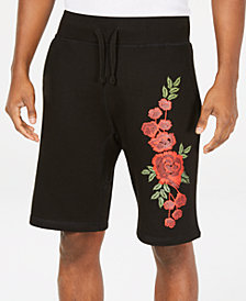 Young & Reckless Men's Embroidered Rosebud Shorts