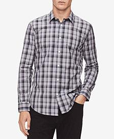 Calvin Klein Men's Plaid French Placket Shirt