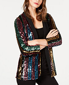 I.N.C. Rainbow Sequined Blazer, Created for Macy's