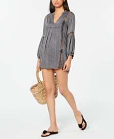 Raviya Charcoal Short Tunic Cover-Up