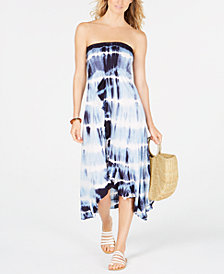 Raviya Tie-Dyed Tube Dress Cover-Up