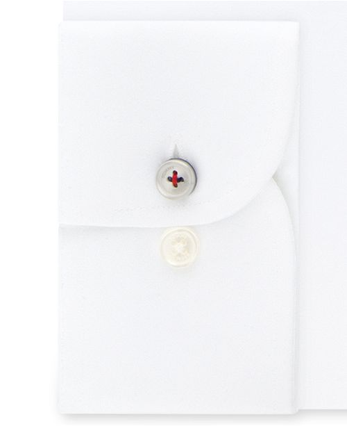 beada3095 Tommy Hilfiger Men's Slim-Fit TH Flex Non-Iron Supima Stretch White Dress  Shirt ...