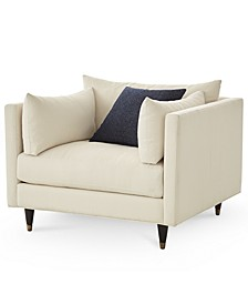 """Bostal 46"""" Fabric Arm Chair and a Half, Created for Macy's"""