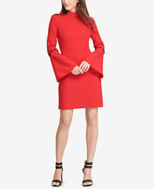 DKNY Embellished Bell-Sleeve Sheath Dress, Created for Macy's