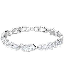 Silver-Tone Crystal Link Bracelet