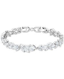 Swarovski Silver-Tone Crystal Link Bracelet