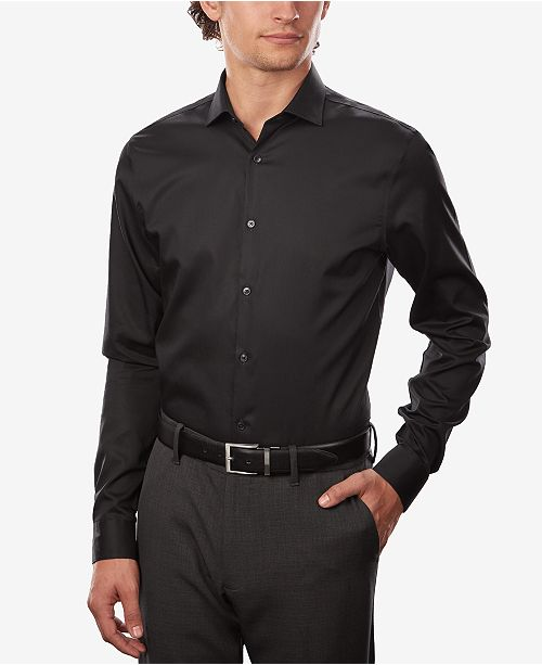 e1ed8ff60e8b ... Calvin Klein Calvin Klein X Men's STEEL Extra-Slim Fit Non-Iron  Performance Herringbone ...
