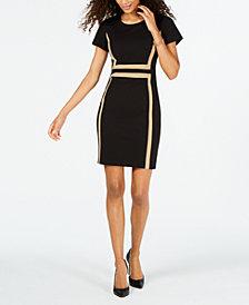 Connected Petite Framed Scuba Dress