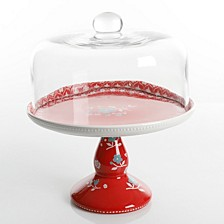 Cherry Diner 2 pc Cake Stand with Cover