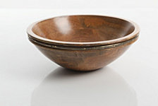 Gibson Pinehurst Wood 11 in. Serving Bowl