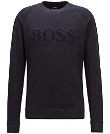 BOSS Men's Embroidered Logo Graphic Cotton Sweatshirt
