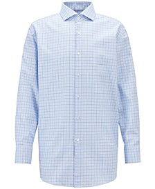 BOSS Men's Slim-Fit Checked Cotton Shirt