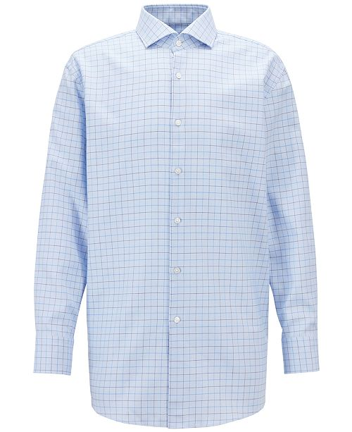 Hugo Boss BOSS Men's Slim-Fit Checked Cotton Shirt
