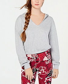 Material Girl Juniors' V-Neck Balloon-Sleeve Hoodie, Created for Macy's