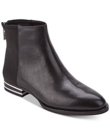 DKNY Lacey Silver-Stripe-Heeled Booties, Created for Macy's