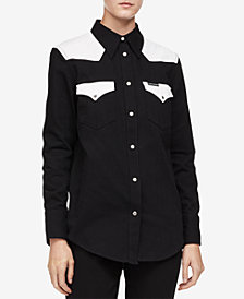 Calvin Klein Jeans Cotton Western Button-Up Shirt