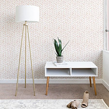 Deny Designs Little Arrow Design Co arcadia herringbone in blush Wallpaper
