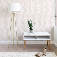 Deny Designs Little Arrow Design Co Arcadia Herringbone in Blush 2'x8' Wallpaper