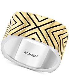 EFFY® Men's Statement Ring in Sterling Silver & 18k Gold-Plate