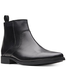 Clarks Men's Tilden Zip Waterproof Leather Boots, Created for Macy's