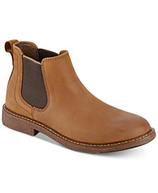 Dockers Men's Stanwell Leather Slip-On Chelsea Boots