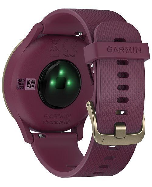 2140961a8 ... Garmin Unisex vívomove HR Sport Berry Silicone Strap Hybrid Touchscreen  Smart Watch 43mm, Created for ...