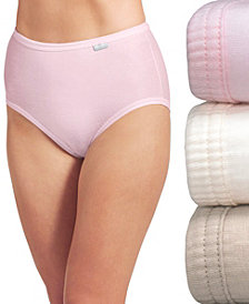 Jockey Elance Brief 3 Pack 1484 1486, also available in Plus sizes