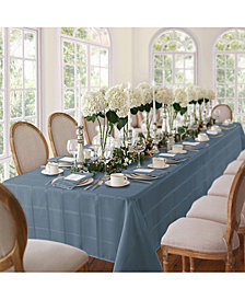 "Elrene Elegance Plaid Blue Shadow 60"" X 84"" Oval Tablecloth"