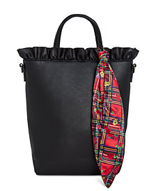 Betsey Johnson Ruffled Top-Handle Tote
