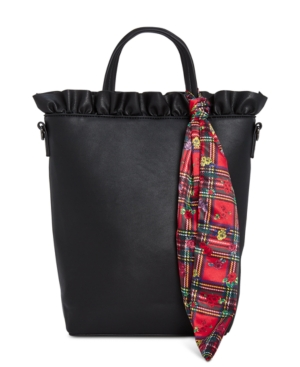 Image of Betsey Johnson Ruffled Top-Handle Tote