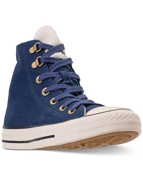 33c6b92c7698 ... Converse Women s Chuck Taylor All Star Furst Love High Top Casual  Sneakers from Finish Line ...