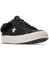 Converse Women s One Star Ox Faux Fur Casual Sneakers from Finish Line 3389b4807