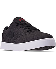 Nike Little Boys' SB Check Canvas Skateboarding Sneakers from Finish Line