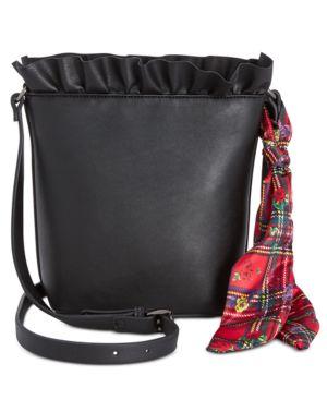 Image of Betsey Johnson Ruffled Bucket Bag