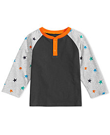 First Impressions Baby Boys Star-Print Henley T-Shirt, Created for Macy's