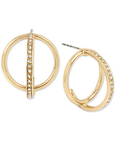 BCBG Pavé Orbital Hoop Earrings