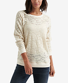 Lucky Brand Brushed Lace Tunic